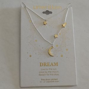 Unwritten Dream Moon and Stars Necklace